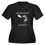 Basketball J Women's Plus Size V-Neck Dark T-Shirt
