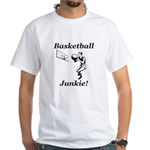 Basketball Junkie White T-Shirt