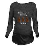Chocolate Bunny Junk Long Sleeve Maternity T-Shirt