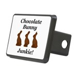 Chocolate Bunny Junkie Rectangular Hitch Cover