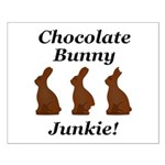 Chocolate Bunny Junkie Small Poster