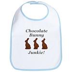 Chocolate Bunny Junkie Bib