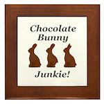 Chocolate Bunny Junkie Framed Tile