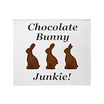 Chocolate Bunny Junkie Throw Blanket