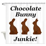 Chocolate Bunny Junkie Shower Curtain