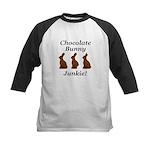 Chocolate Bunny Junkie Kids Baseball Jersey