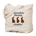 Chocolate Bunny Junkie Tote Bag
