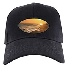 Gratitude Beach Sunset Mantra Baseball Hat