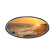 Gratitude Beach Sunset Mantra Patch