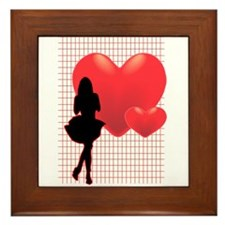 Romance Girl Framed Tile