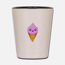 Strawberry Kawaii Ice Cream Cone Shot Glass