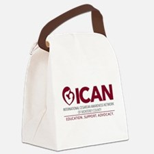 ICAN of Monterey County Logo Canvas Lunch Bag