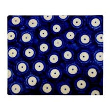 Polish Pottery Polka Dots Throw Blanket