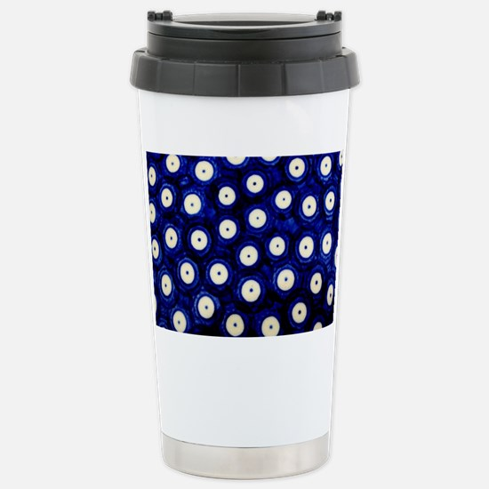 Polish Pottery Polka Do Stainless Steel Travel Mug
