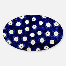 Polish Pottery Polka Dots Sticker (Oval)