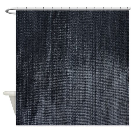 Distressed Denim Shower Curtain Shower Curtain By