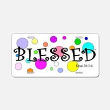 Happy and Blessed Aluminum License Plate