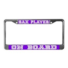 Sax Player License Plate Frame