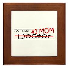 Job Mom Doctor Framed Tile
