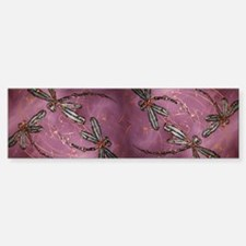 Dragonflies Dusky Rose Bumper Bumper Sticker