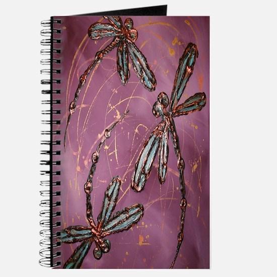 Dragonflies Dusky Rose Journal