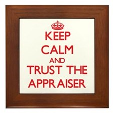 Keep Calm and Trust the Appraiser Framed Tile