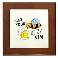 Get Your Buzz On Framed Tile