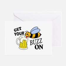 Get Your Buzz On Greeting Card