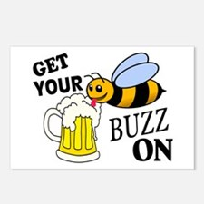 Get Your Buzz On Postcards (Package of 8)