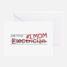 Job Mom Electrician Greeting Card