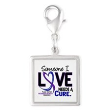RA Needs a Cure 2 Silver Square Charm
