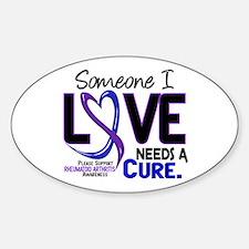 RA Needs a Cure 2 Sticker (Oval)