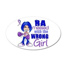 RA Messed With Wrong 20x12 Oval Wall Decal