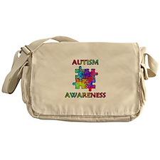 Autism Awareness Colorful Puzzle Pieces Messenger