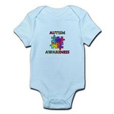 Autism Awareness Colorful Puzzle Pieces Body Suit