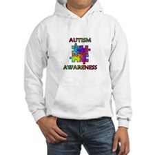 Autism Awareness Colorful Puzzle Pieces Hoodie