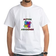 Autism Awareness Colorful Puzzle Pieces T-Shirt