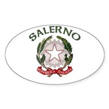Salerno, Italy Oval Decal