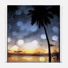 Sunset Palms Tile Coaster