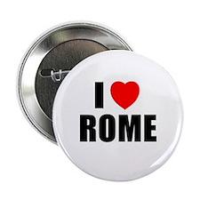 I Love Rome, Italy Button