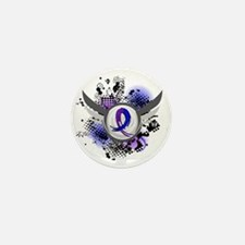RA Grunge Ribbon Wings Mini Button