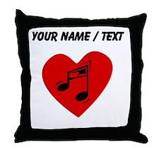 Custom Music Heart Throw Pillow