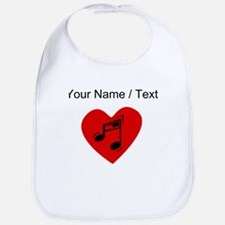Custom Music Heart Bib
