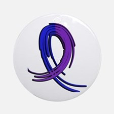 RA Graffiti Ribbon 2 Ornament (Round)