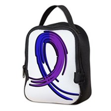 RA Graffiti Ribbon 2 Neoprene Lunch Bag