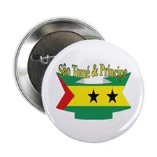 Sao Tome Principe Flag Ribbon Button