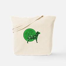 Green Dog Mosaic Tote Bag