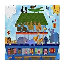 Noahs Ark Tile Coaster