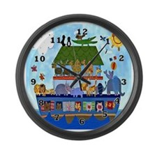 Noahs Ark Large Wall Clock