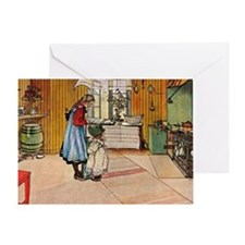 Carl Larsson - The Kitchen Greeting Card